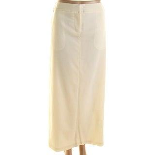 Tibi Womens Wool Tuxedo Maxi Skirt - 4