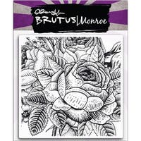 """Brutus Monroe Clear Stamps 5.75""""X5.75""""-Enchanted Rose Background"""