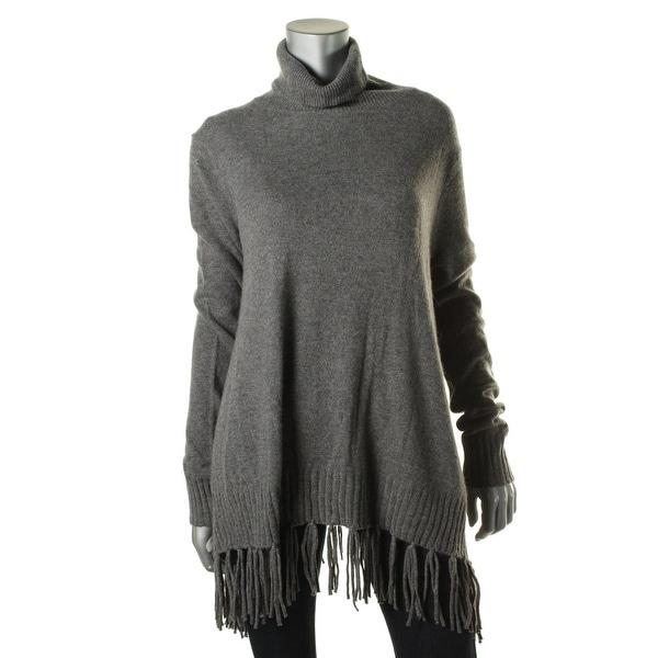 Velvet Womens Kyla Turtleneck Sweater Cashmere Fringe