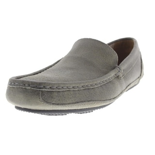Andrew Marc Mens Empire Suede Distressed Driving Moccasins