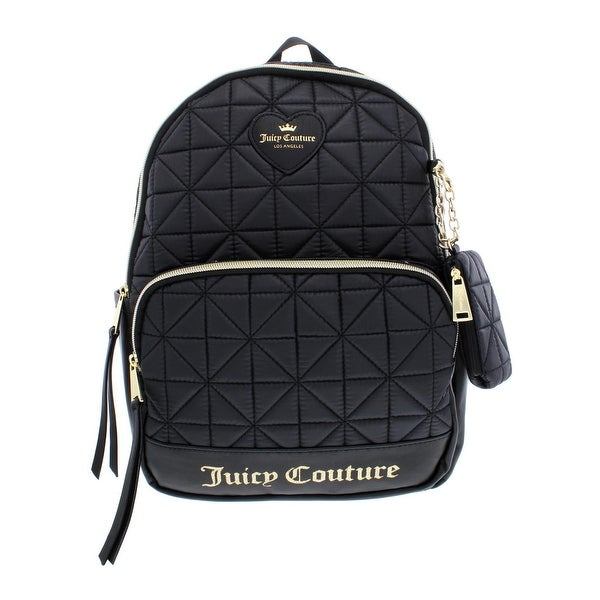 Juicy Couture Womens Starburst Backpack Quilted Faux Leather Trim - small 8a50d3f8fc
