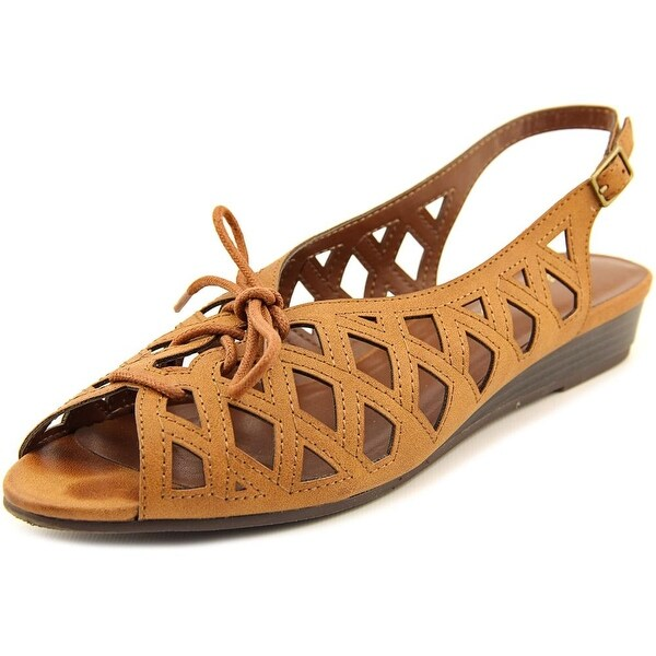 Easy Street Tinker Lace Up Women WW Open-Toe Synthetic Brown Slingback Sandal