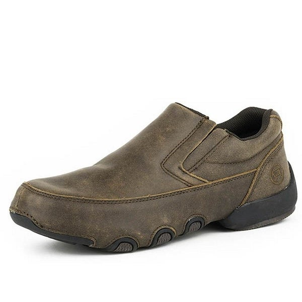 Roper Western Shoes Mens Country Driving Moc Brown