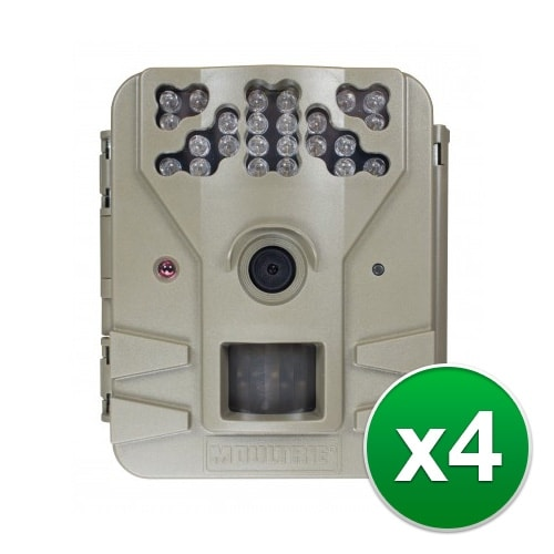 Moultrie MCG-13200 Game Spy 2 Plus Camera with Multi-Shot Modes & Flash Range 50' - (4-Pack)