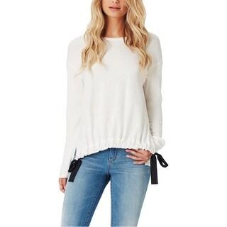 Jessica Simpson Womens Wendi Pullover Sweater Crop Angel Sleeves