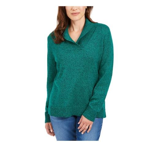 KAREN SCOTT Teal Long Sleeve Hoodie Sweater XXL