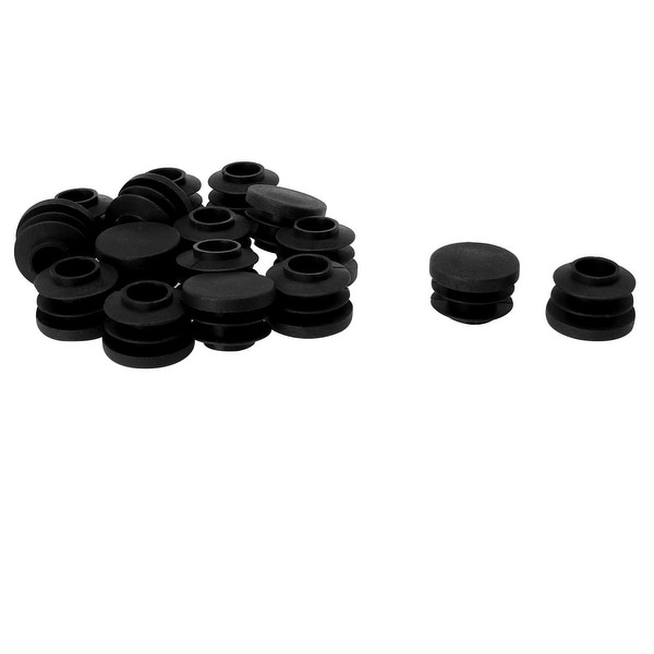 "3/4"" 20mm OD Plastic Round Tube Ribbed Inserts End Cover Caps 16pcs"