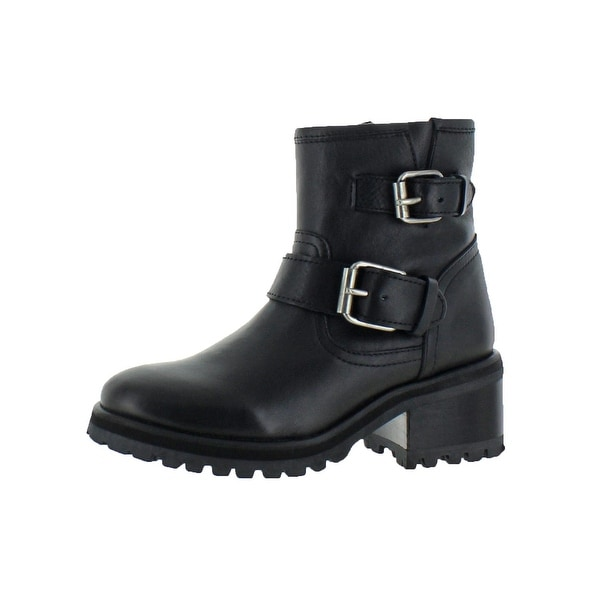 c43a57307f67 Shop Steve Madden Womens Gain Motorcycle Boots Ankle Chunky Heel ...