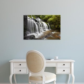 Easy Art Prints David Wall's 'Purakaunui Falls' Premium Canvas Art