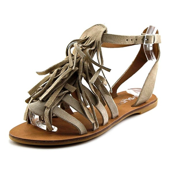 J/Slides Kai Women Open Toe Suede Gladiator Sandal