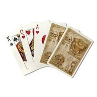 Bigfoot - da Vinci Style - LP Artwork (Poker Playing Cards Deck)