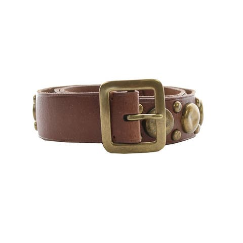 Polo Ralph Lauren Brown Studded Trench Buckle Belt S