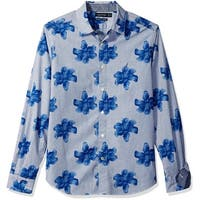 Nautica Blue Men's Size 2XL Floral Button Down Classic Fit Shirt