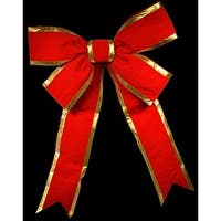 Christmas at Winterland WL-BOW-48-RE/GO 48 Inch Red with Gold Trim Holiday Bow