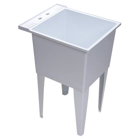 "PROFLO PFLT2024 20"" Single Compartment Floor Mounted Laundry Sink - White"