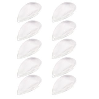 63mm Long Faux Crystal Waterdrop Shaped Bead Clear 10pcs for DIY Light Decor