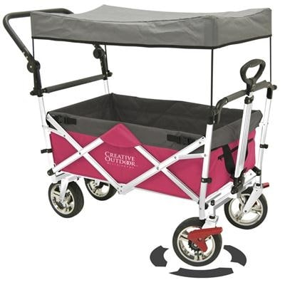 Shop Push And Pull Kid 900552 Folding Collapsible Wagon Stroller