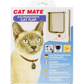 White - Cat Mate Electromagnetic Cat Flap