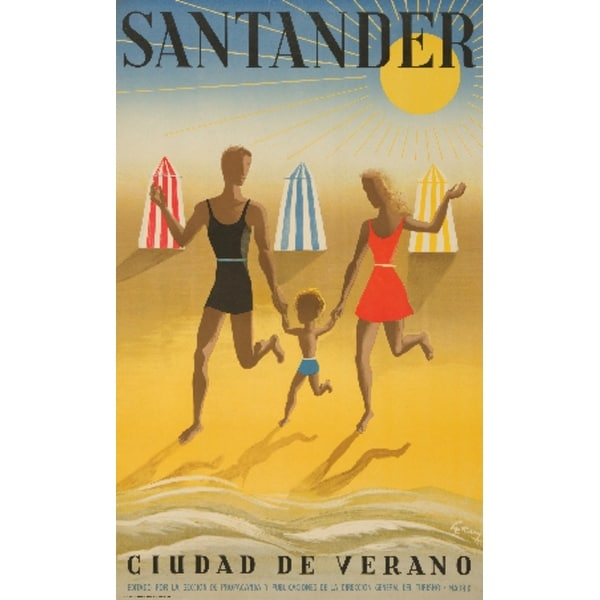 Spain - Santander Geruy 1942 Vintage Ad (Light Switchplate Cover)