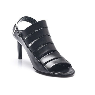 Balenciaga Women's Strappy Leather Open Toe Slingbacks Black