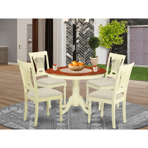 East West Furniture Modern 5 Pc set with a Dining Table and 4 Dinette Chairs (Finish Option)