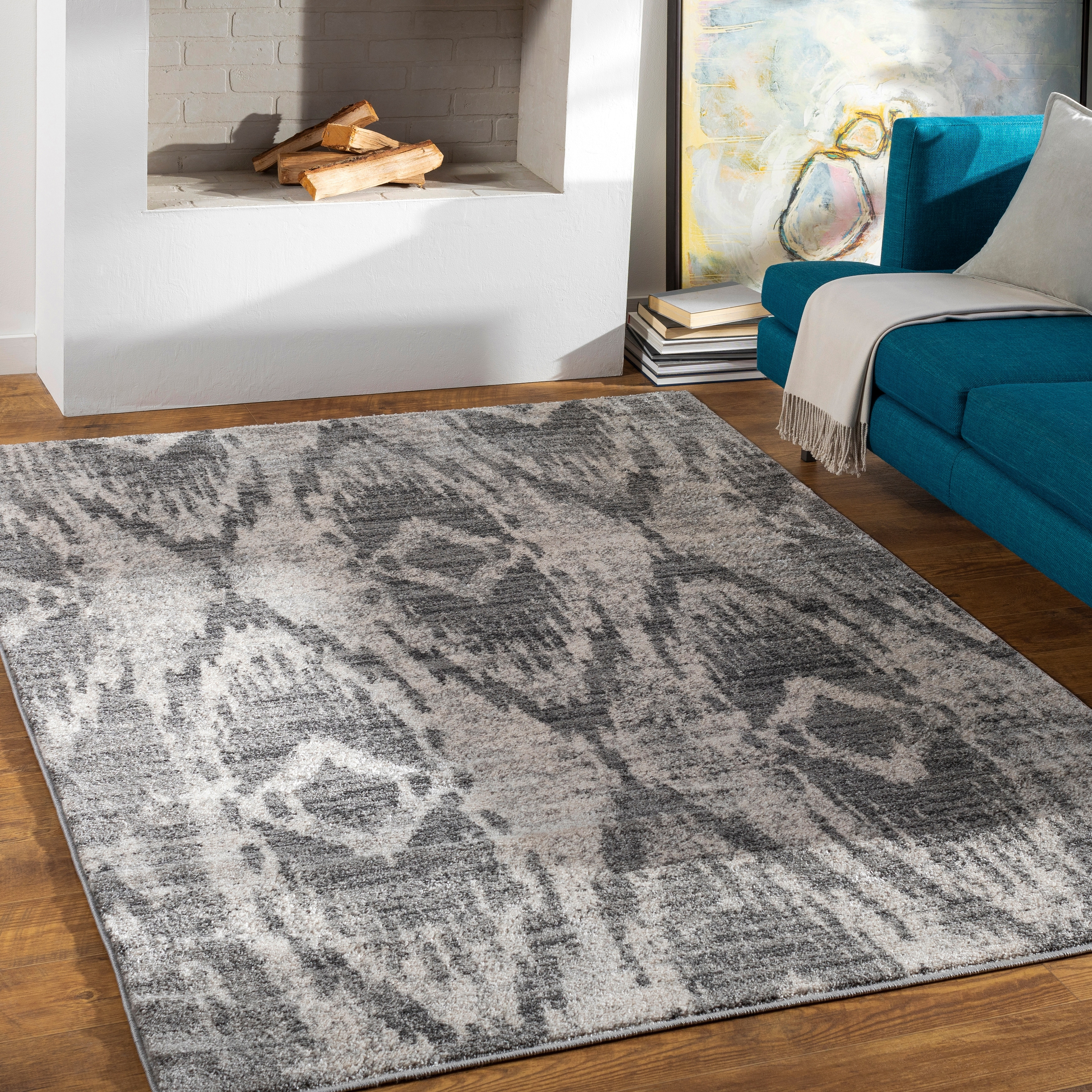Arielle Ikat Patterned Area Rug Overstock 32393421