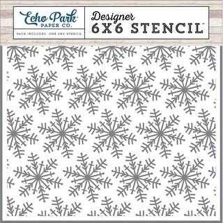 "Echo Park Stencil 6""X6""-Winter Snowflakes"