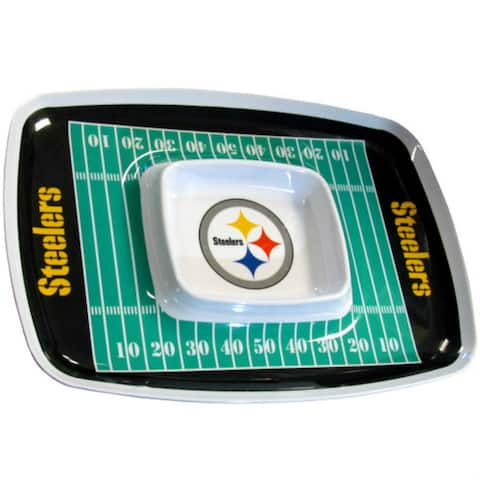 Siskiyou Sports Pittsburgh Steelers Chip And Dip Tray Chip and Dip Tray