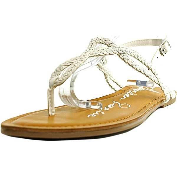 American Rag Keira Women Open Toe Synthetic White Thong Sandal