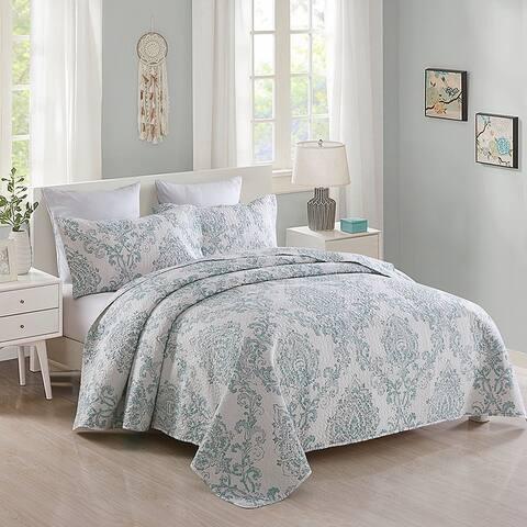 Plaid Striped Patchwork Quilt Bedding Set Reversible Coverlet,Bedspread