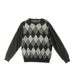 Izod Mens Heathered Argyle Pullover Sweater - L