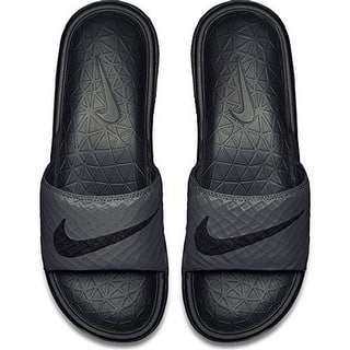 Nike Mens BENASSI SOLARSOFT, DARK GREY/BLACK|https://ak1.ostkcdn.com/images/products/is/images/direct/cbfe941066ae5ad0e31fa6971b1cc2d777cbece1/Nike-Mens-BENASSI-SOLARSOFT%2C-DARK-GREY-BLACK.jpg?impolicy=medium