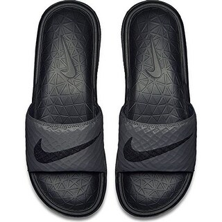 Nike Mens BENASSI SOLARSOFT, DARK GREY/BLACK