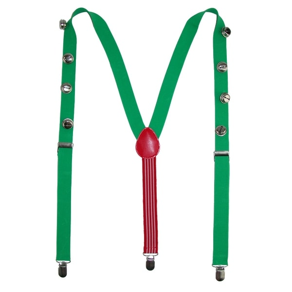 Wembley Novelty Jingle Bell Holiday Christmas Suspenders - One size