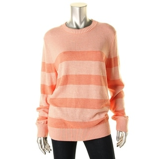 Tommy Hilfiger Womens Knit Ribbed Trim Pullover Sweater - M