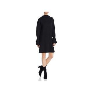 JOA Womens Sweaterdress Mock Neck Knee-Length
