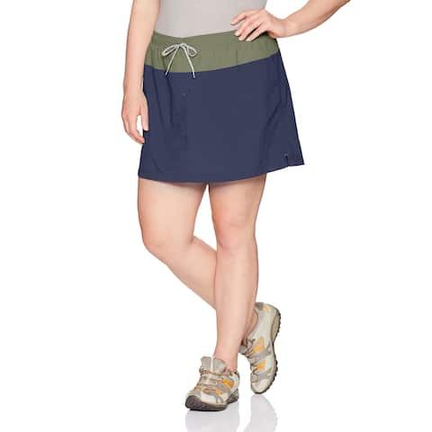 Columbia Blue Women's Size 2X Plus Performance Colorblock Skorts