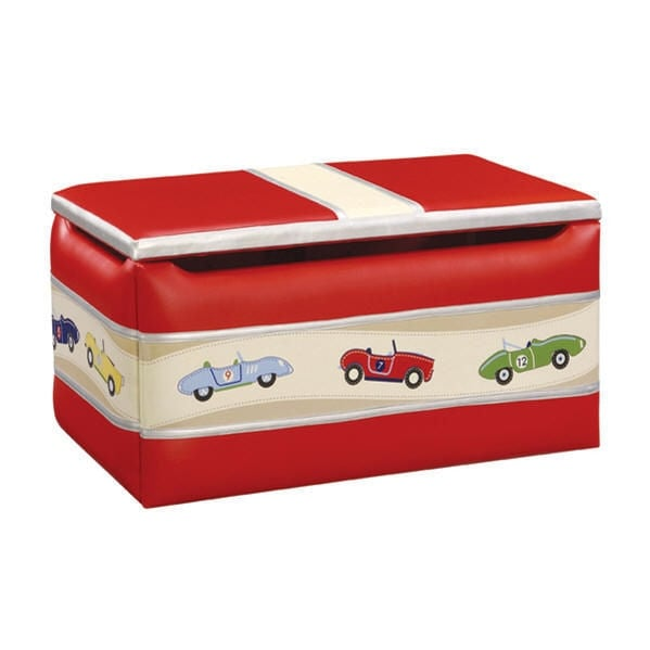 Guidecraft Kid's Storage Toy Box Retro Racers Collection