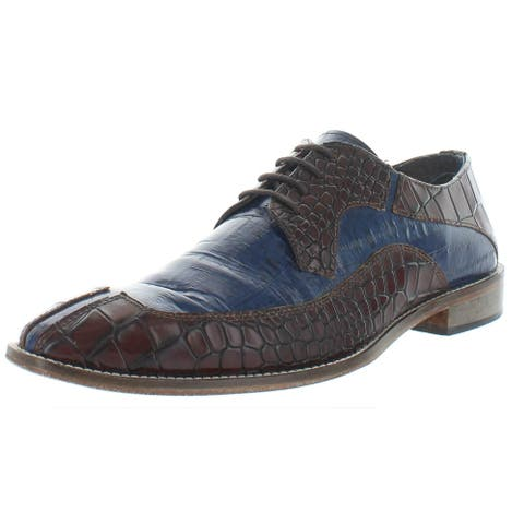 Stacy Adams Mens Tiramico Oxfords Leather Croc Embossed