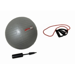 Gym in a Box 21 Inch Exercise Ball and Resistance Band - gray