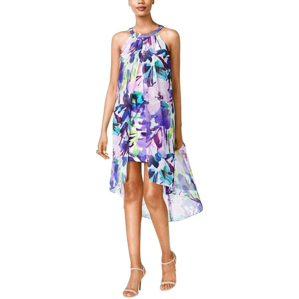 Vince Camuto Womens Wear to Work Dress Chiffon Floral Print