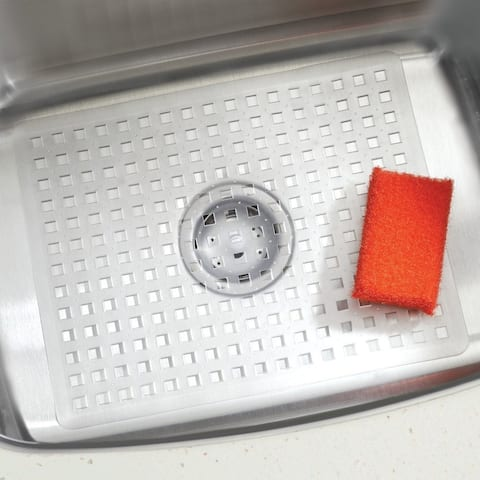 "InterDesign 36800 Sinkworks Euro Regular Sink Mat, Large, Clear, 13"" x 16"""