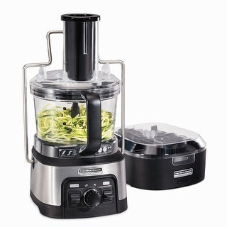 Hamilton Beach Professional 12 Cup Spiralizing Stack & Snap Food Processor