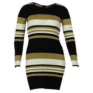 INC International Concepts Women's Long Sleeve Stripe Sweater Dress