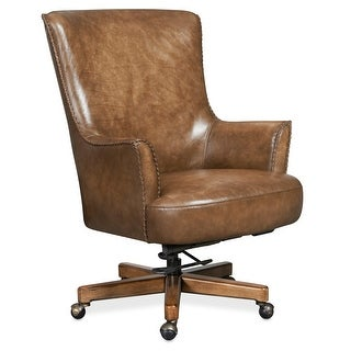 "Hooker Furniture EC318-083  30-1/2"" Wide Leather Adjustable Office Chair from the Malvot Collection - Tianran Nature"