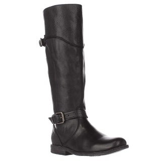 FRYE Phillip Riding Wide Calf Boots, Black - 5.5 us