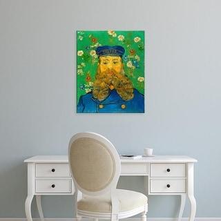 Easy Art Prints Vincent Van Gogh's 'Portrait of Joseph Roulin' Premium Canvas Art