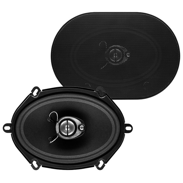 Sound Storm SLQ357 300 Watt (Per Pair), 5 x 7 Inch, Full Range, 3 Way Car Speakers (Sold in Pairs)