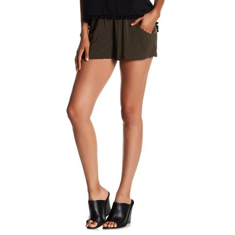 French Connection Green Womens Size 4 Drawstring-Waist Casual Shorts