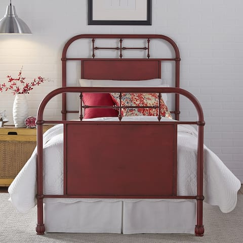Carbon Loft Cauthen Youth Distressed Metal Red Twin Metal Bed
